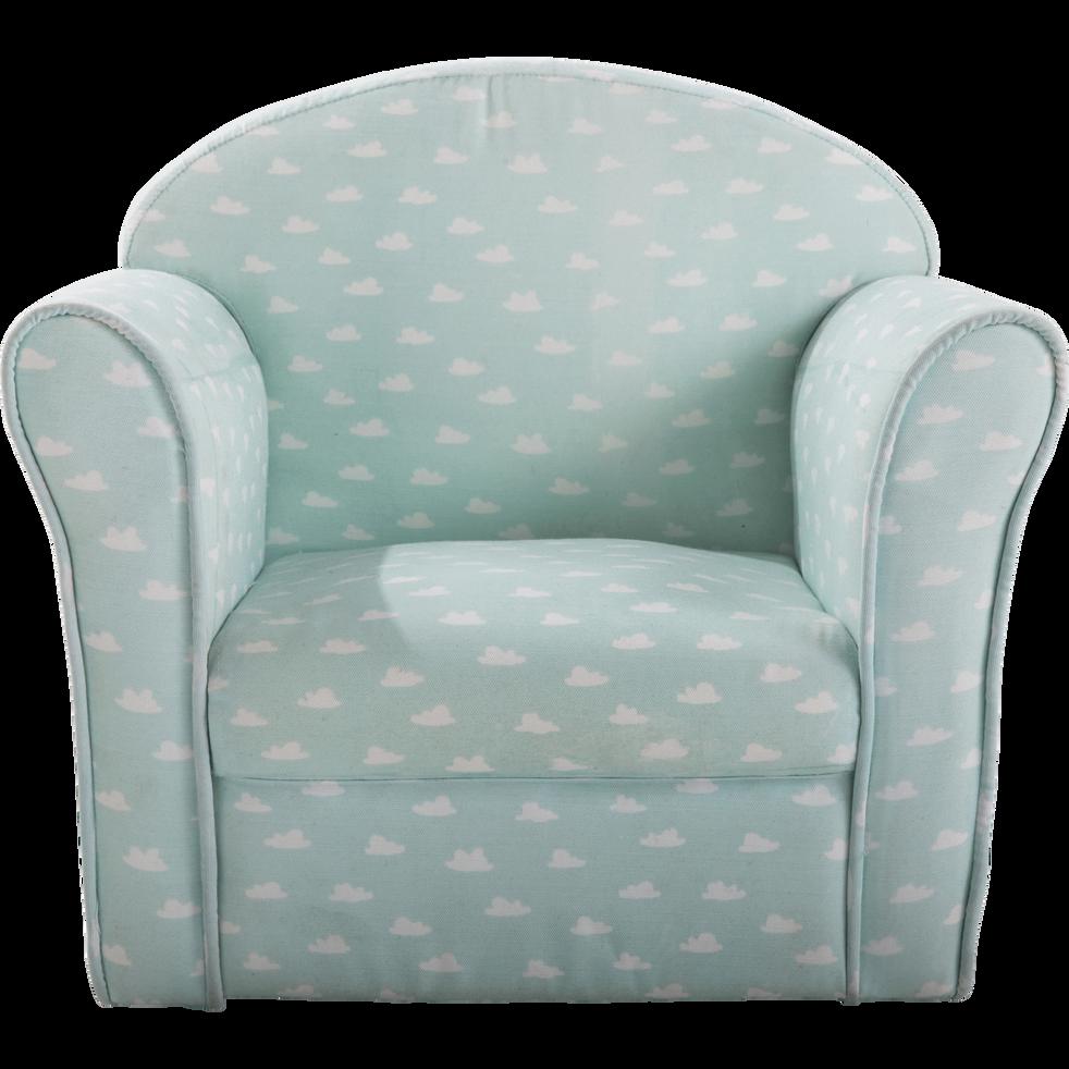 fauteuil club vert d 39 eau motif nuage pour enfant clubby. Black Bedroom Furniture Sets. Home Design Ideas