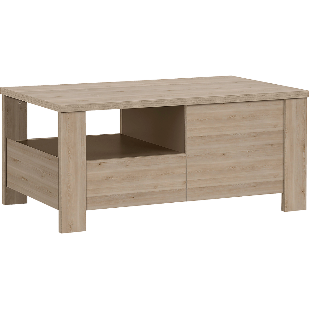 table basse coloris bois blanchi 2 tiroirs sha pin tables basses alinea. Black Bedroom Furniture Sets. Home Design Ideas