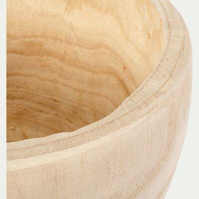 Pot décoratif en bois - naturel D27,5xH16cm-DAVIA