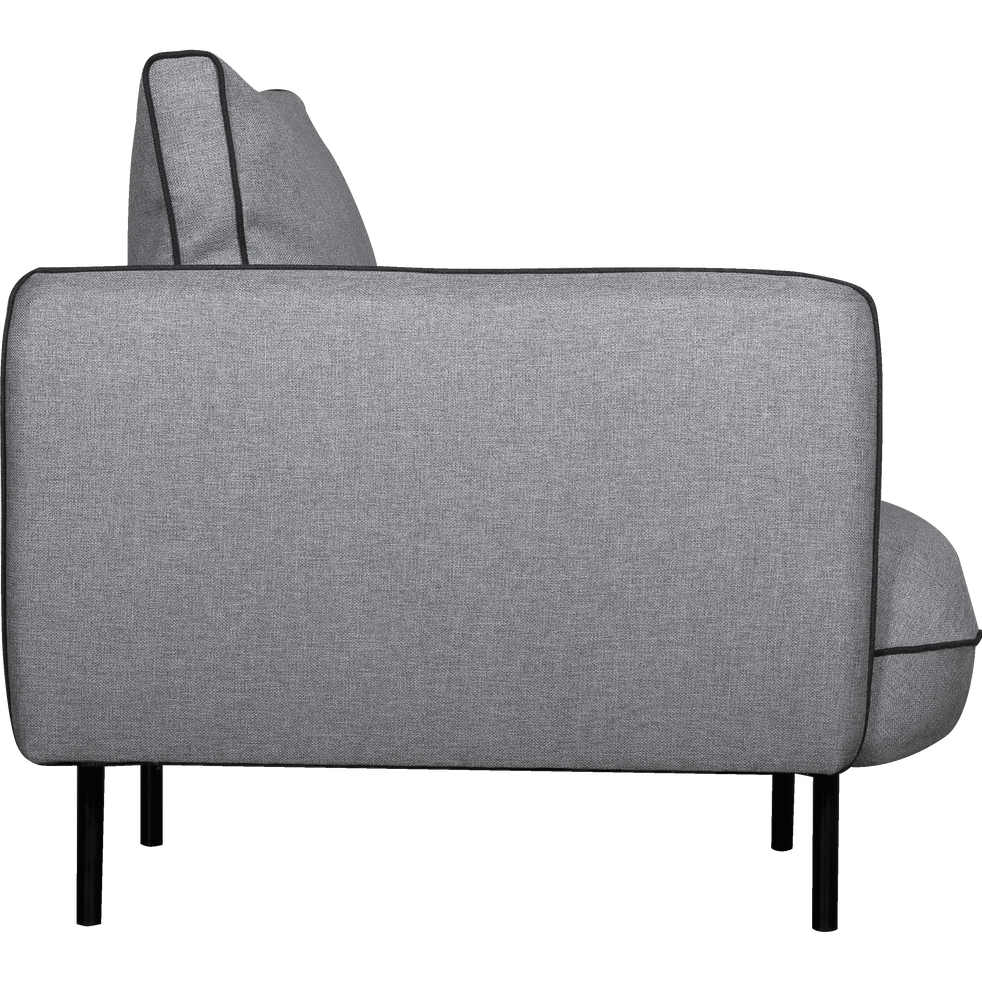 Fauteuil en tissu gris borie-SAOU