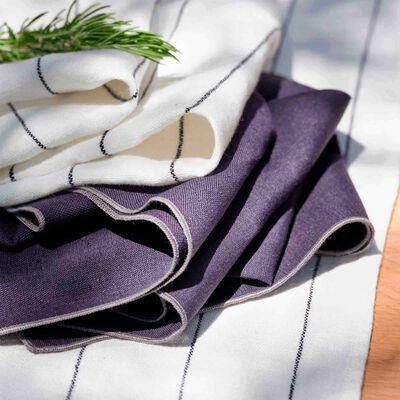 Gamme de linge de table en lin et coton gris calabrun-MILA