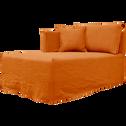 Méridienne gauche en lin orange rustrel-VENCE