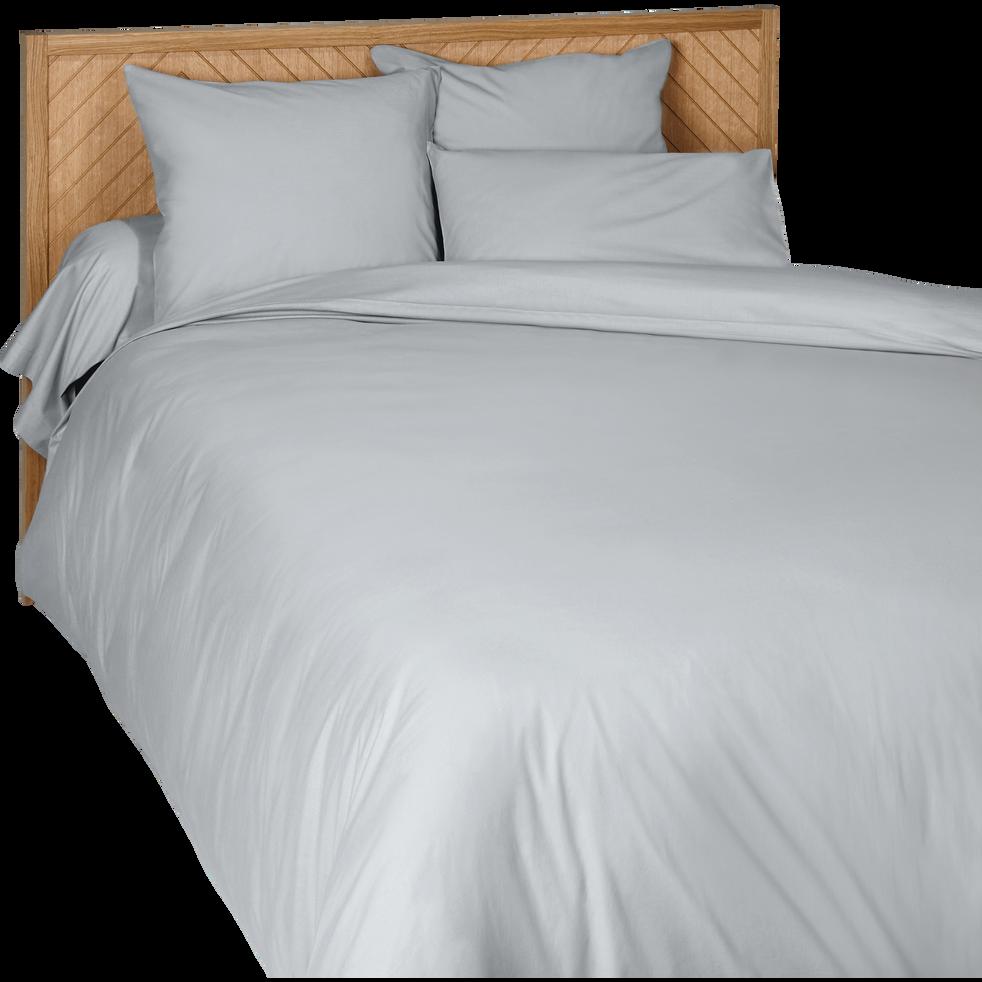 Housse de couette en coton gris borie 240x220cm-CALANQUES
