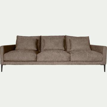 Canapé 5 places fixe en tissu beige alpilles-SOZY