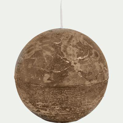 Bougie ronde brun albe D10cm-BEJAIA