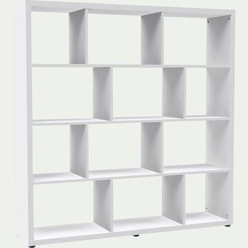 Étagère 12 cases blanche L149.4cm-BRIK