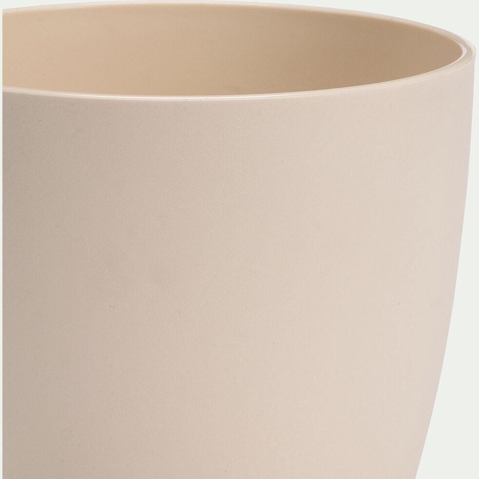 Cache-pot en plastique H8,7xD10,2cm - blanc écru-BRUSSELS