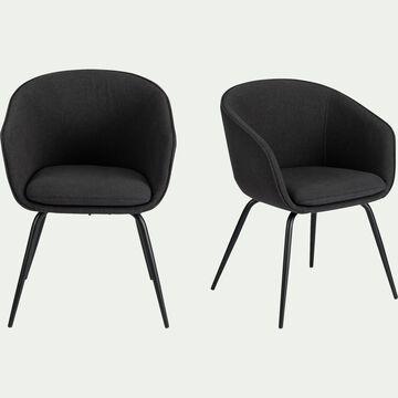Chaise en tissu avec accoudoirs -  gris restanque-PELAGIE