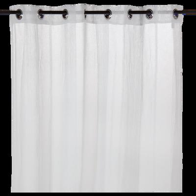 Voilage à œillets blanc 140x240cm-Malaga