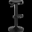 Tabouret ajustable en métal noir H59 à 81cm-CORIS