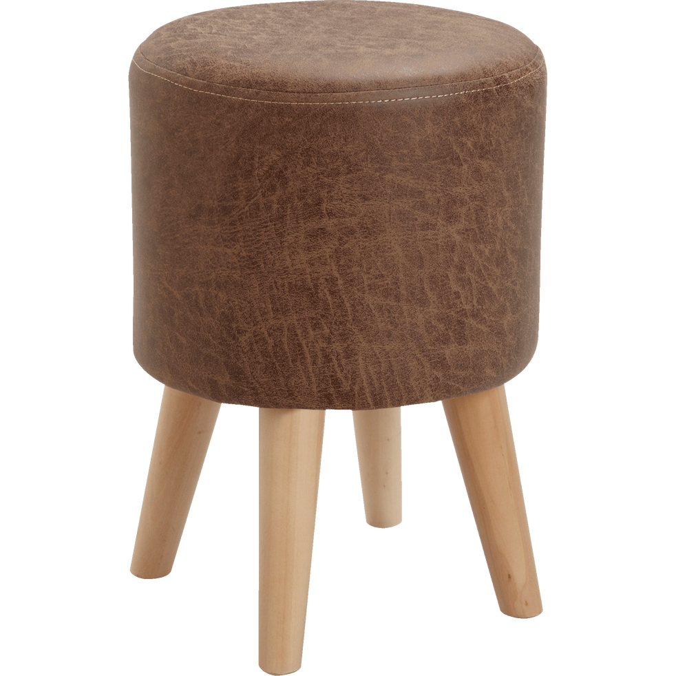 pouf en tissu marron effet vieilli oldy poufs et repose pieds alinea. Black Bedroom Furniture Sets. Home Design Ideas
