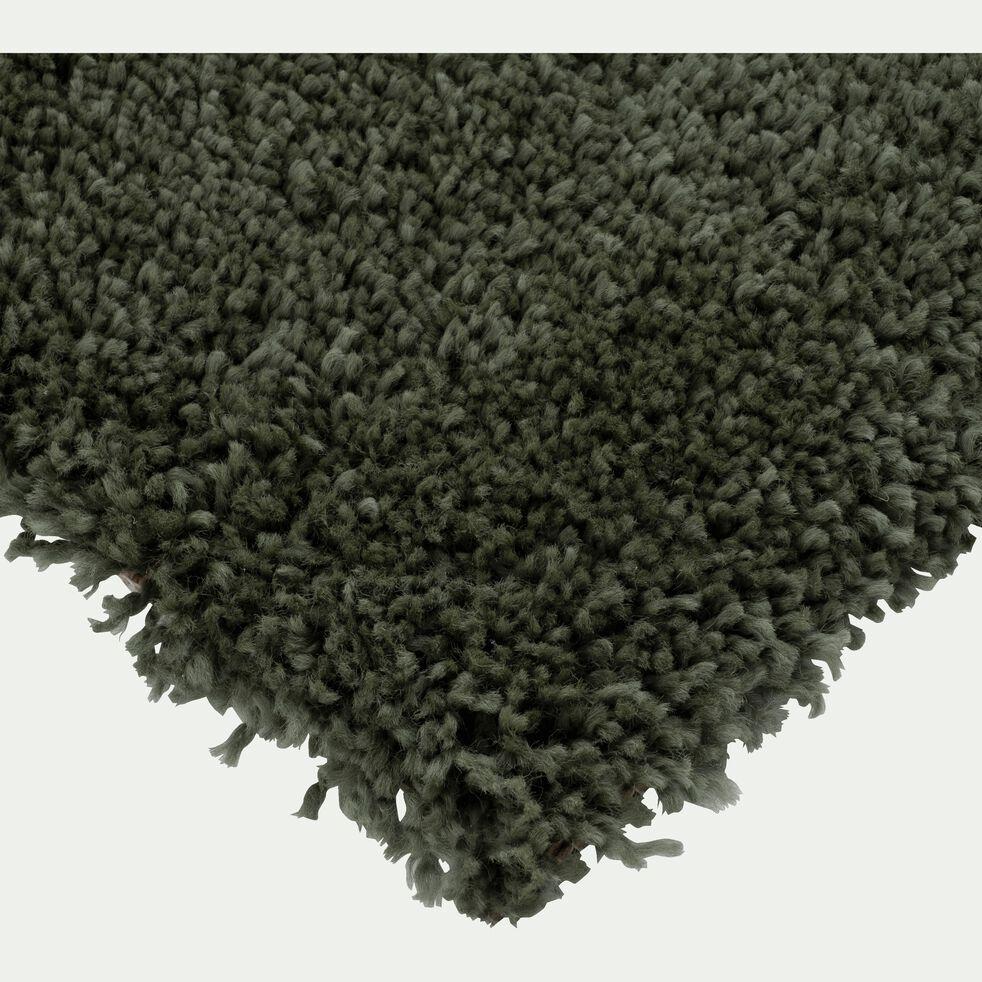 Descente de lit à poils longs - vert cèdre 60x110cm-KRIS