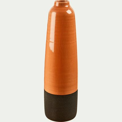 Vase en céramique orange H43.5 cm-ADRIANO
