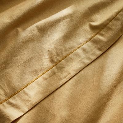 Linge de lit en coton beige nèfle-CALANQUES