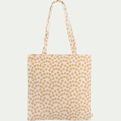 Sac en coton motif Figuier - jaune 38x42cm-FIGUIER