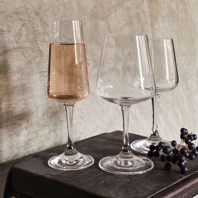 Service de verres en cristallin avec carafes en verre