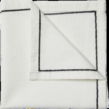 Serviette en coton blanc 41x41cm-ISSA