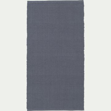 Descente de lit en coton - gris restanque 60x120cm-CAMELIA