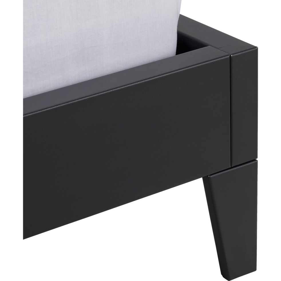 Lit 2 places en acier Noir - 140x200 cm-LOFTER