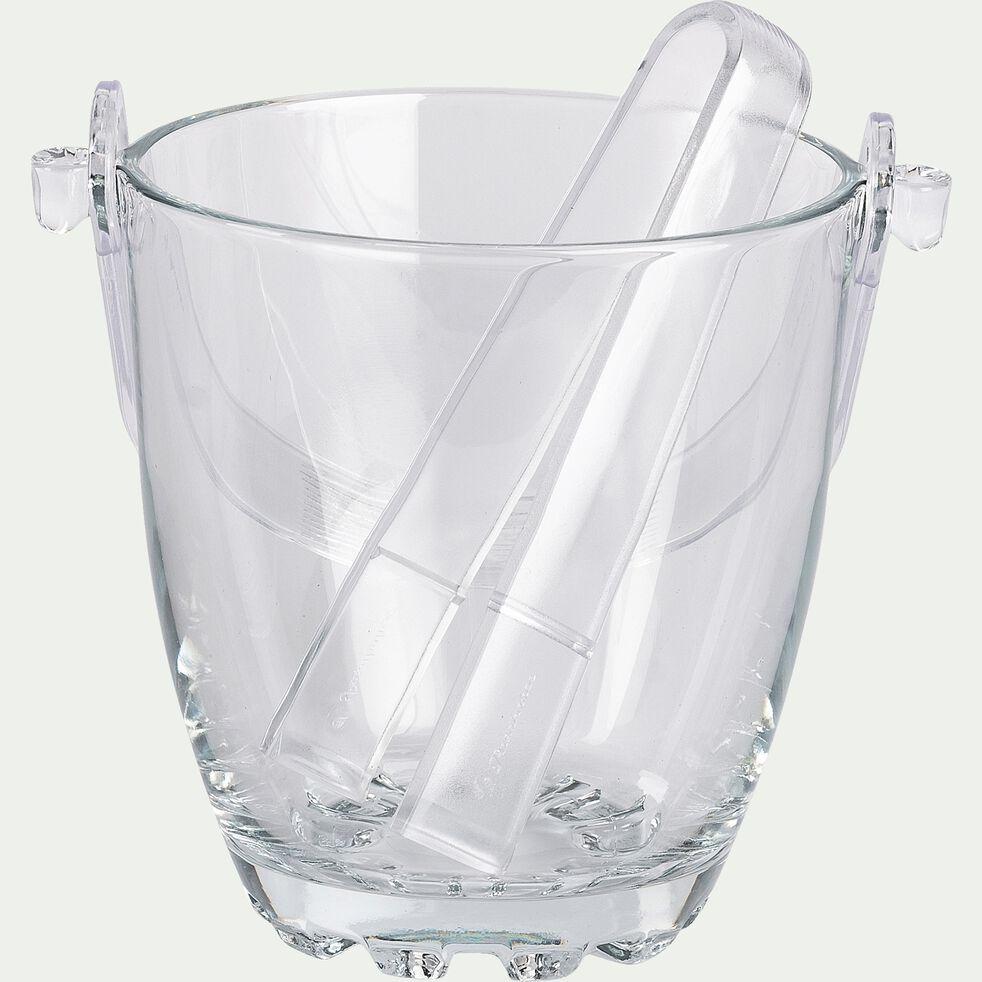 Seau à glaçe en verre - transparent-RICA