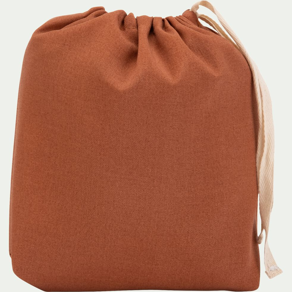 Pouf de jardin en tissu - marron rustrel D53cm-CAPRICE
