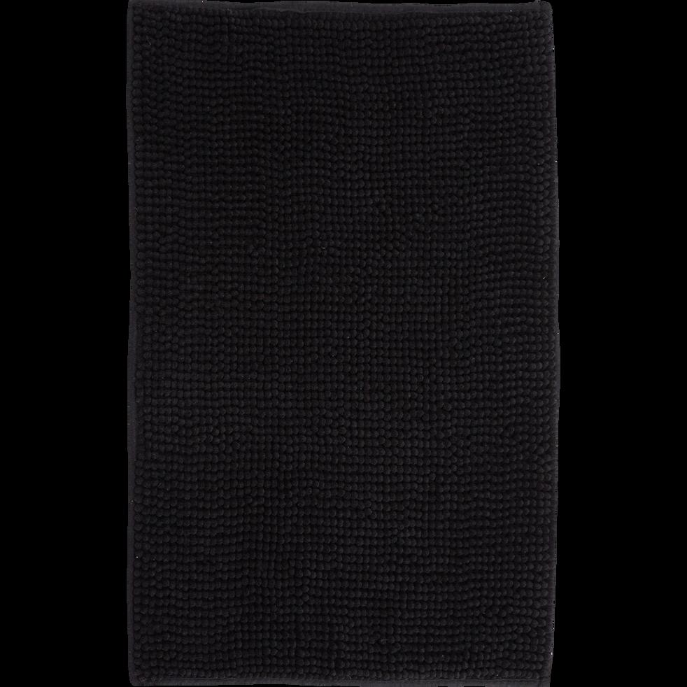tapis de bain 50x80cm noir pico tapis de bains et caillebotis alinea. Black Bedroom Furniture Sets. Home Design Ideas