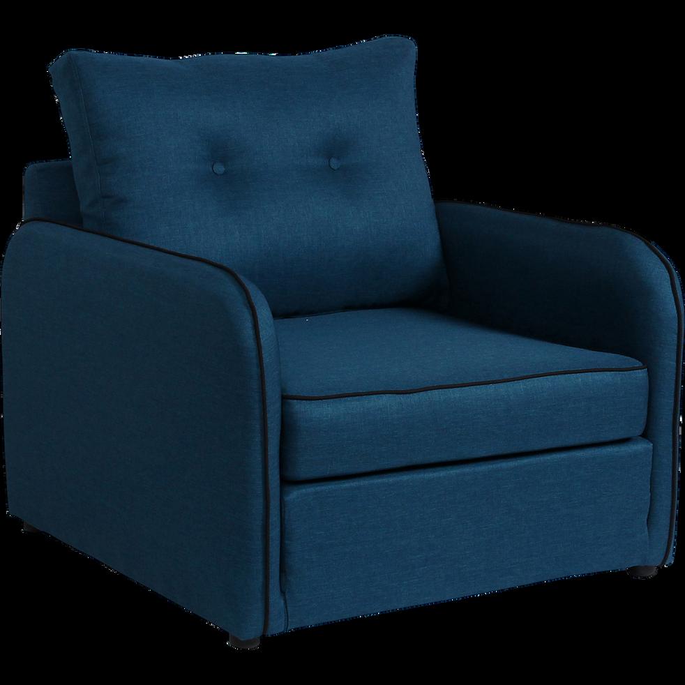 chauffeuse d plimousse en tissu bleu vinyl chauffeuses alinea. Black Bedroom Furniture Sets. Home Design Ideas