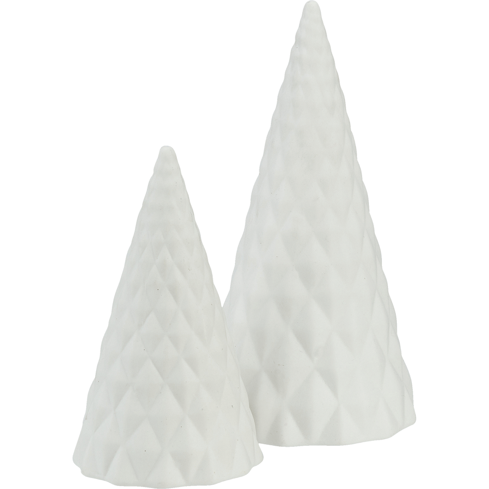 Sapin en céramique blanc H20cm-ANDRIEU
