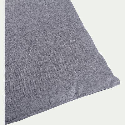 Coussin chambray gris restanque 40x60cm-CORBIERE