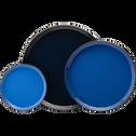 Plateau en métal intérieur émaillé Bleu D30 cm-ELISA