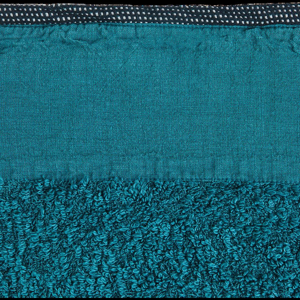 Drap de bain 100X150cm bleu niolon-ADONI