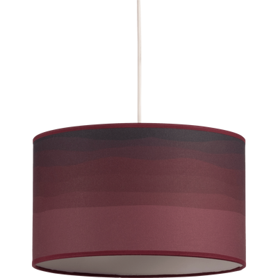 Abat-jour / suspension rouge sumac D40cm-SOLARIS