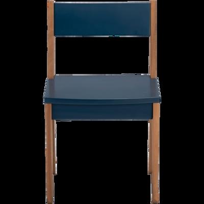 Chaise En Acacia Pour Enfant Bleu Figuerolles RAPHAEL