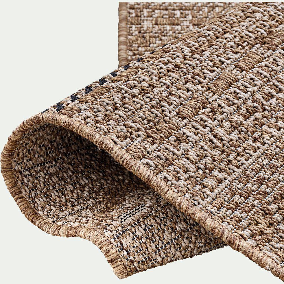 Tapis intérieur et extérieur inspiration aztèque - marron 120x170cm-luca