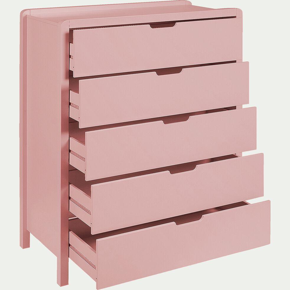 Commode 5 tiroirs - rose salina-JAUME