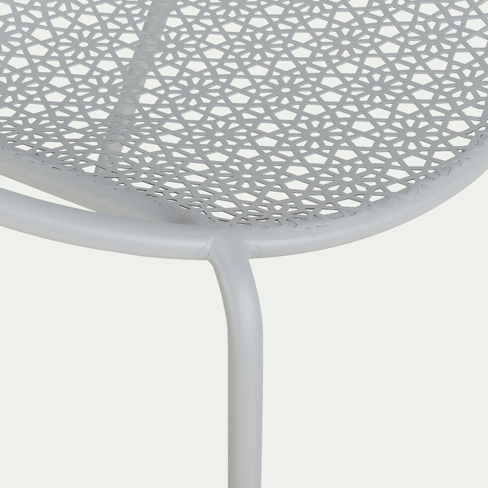 Fauteuil de jardin en métal avec accoudoirs - gris vésuve-Clementine