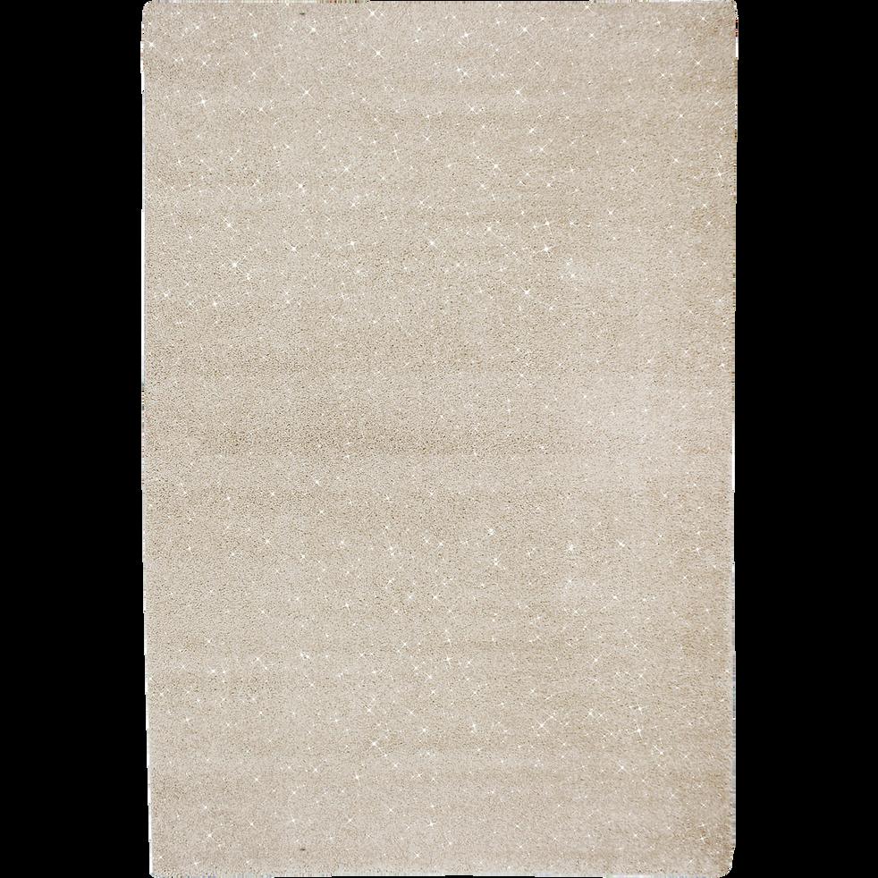 Tapis brillant blanc 160x230 cm-MONROE