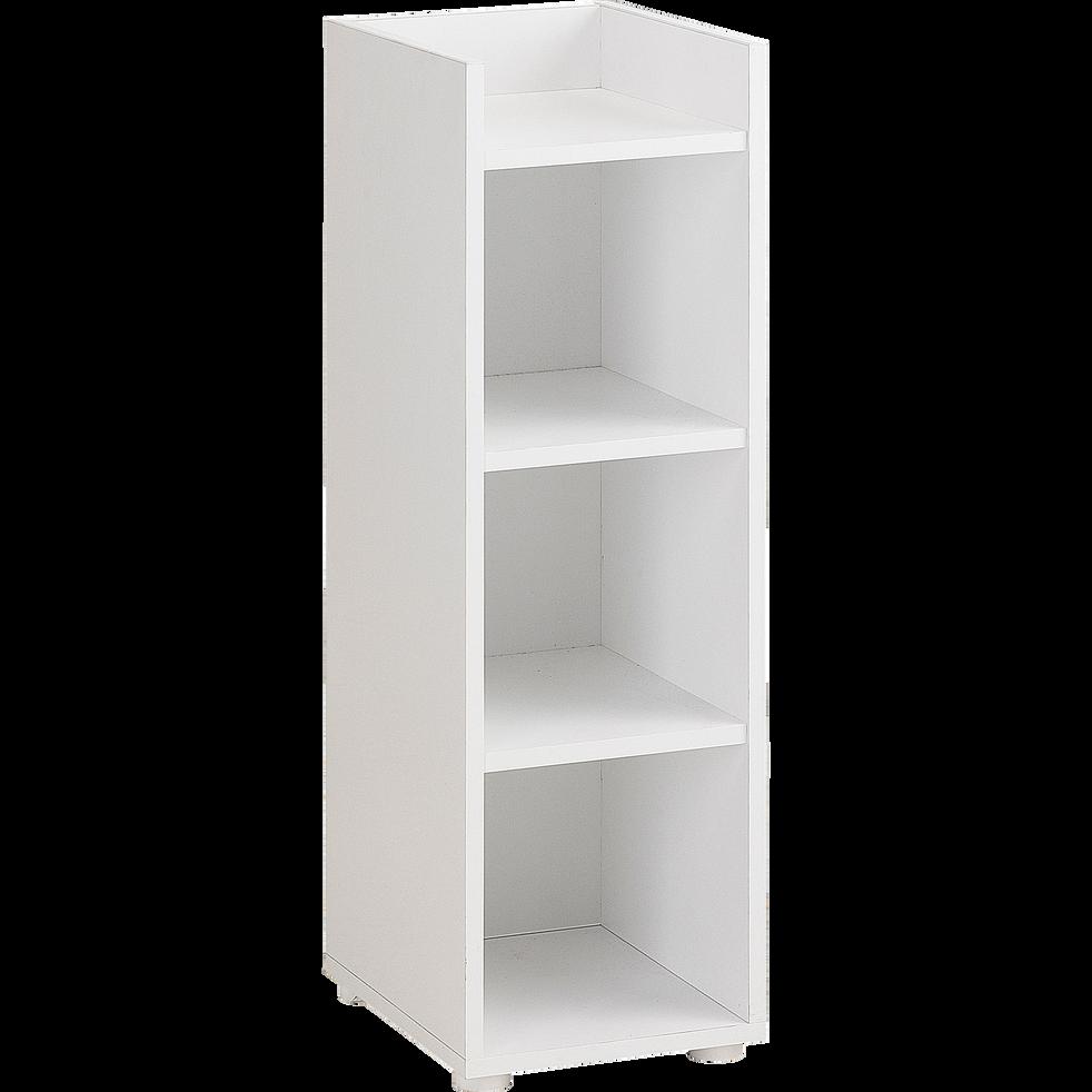 Bibliothèque enfant 4 étagères Blanc-Camille