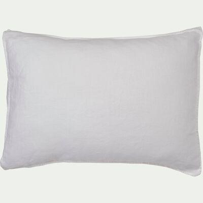 Lot de 2 taies d'oreiller en lin - blanc capelan 50x70cm-VENCE