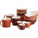 Bol en porcelaine orange D14,4cm-CAFI