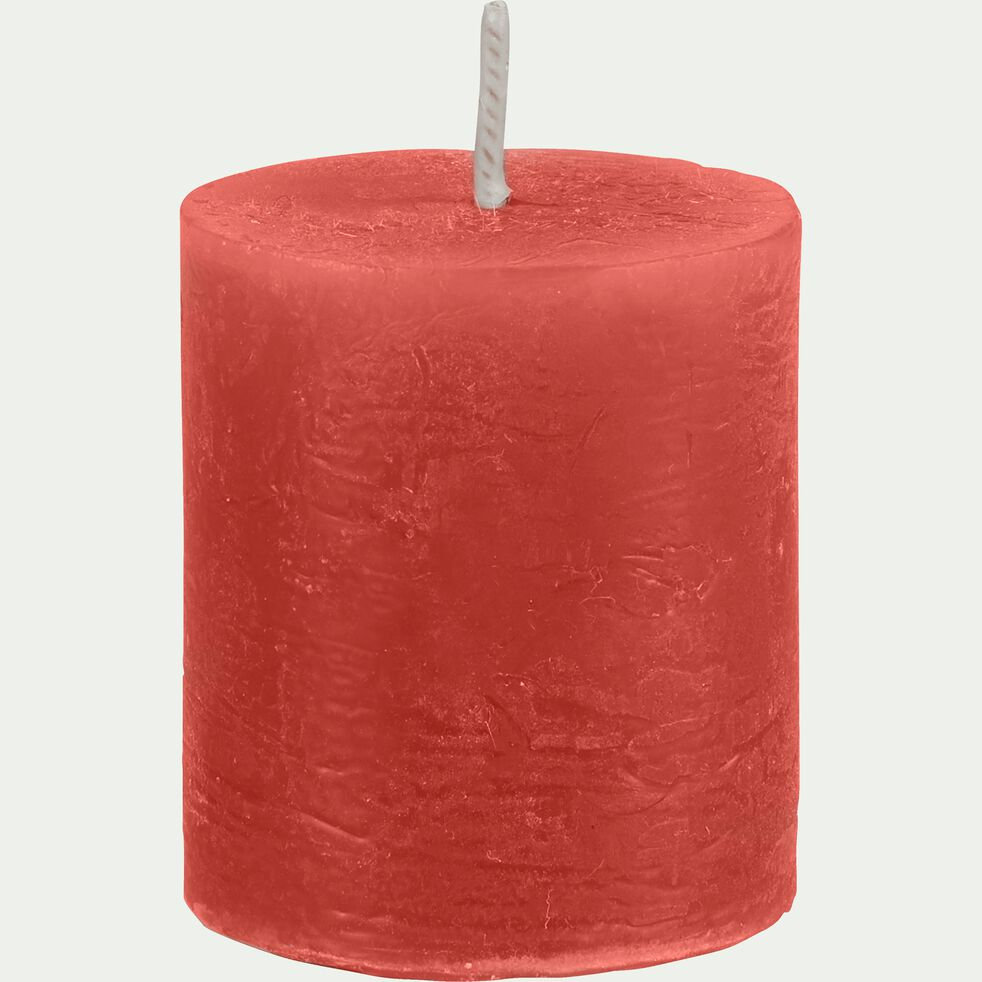 Bougie voitve rouge azerole D4xH5cm-BEJAIA