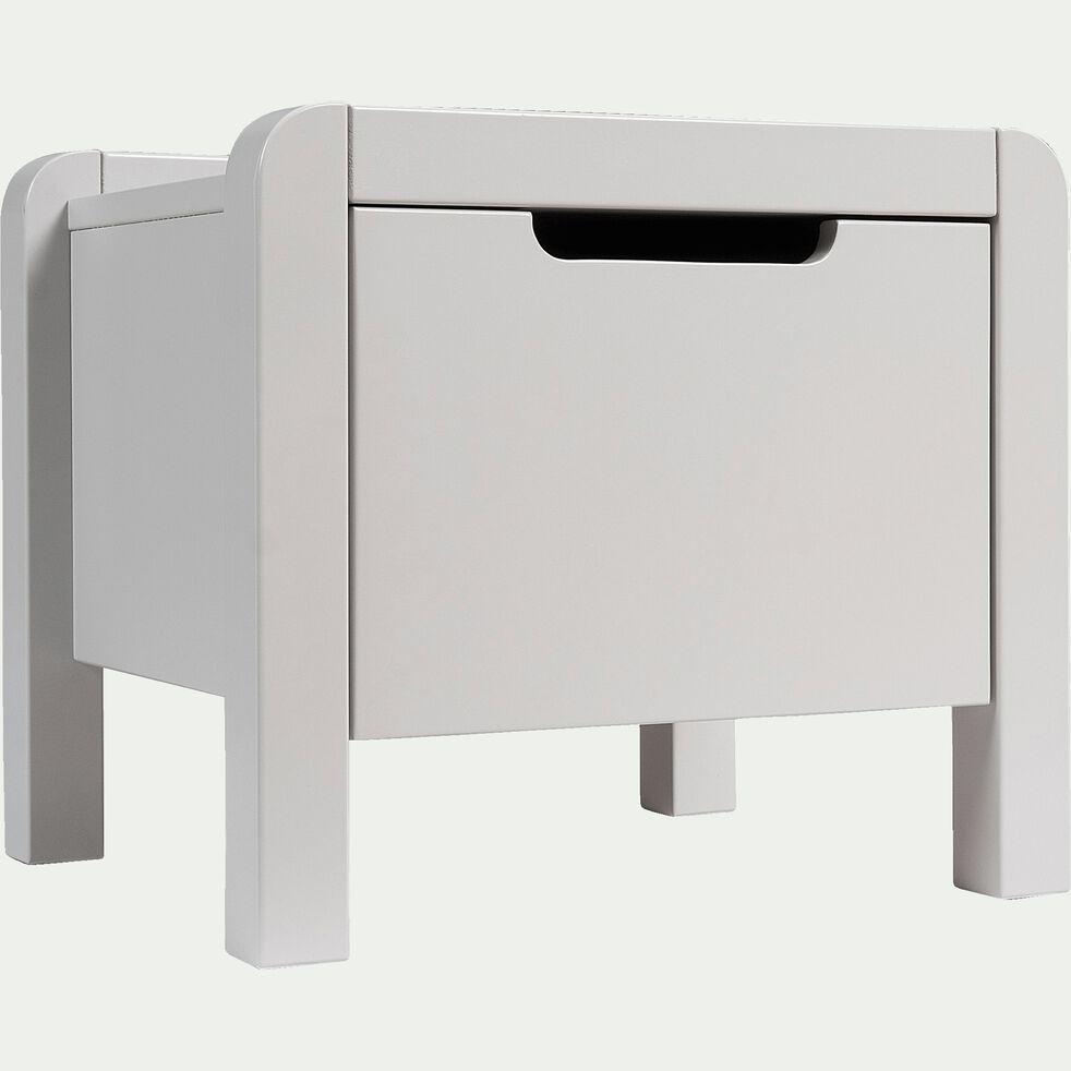 Table de chevet en bois gris borie-JAUME