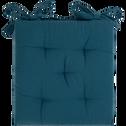 Galette de chaise bleu figuerolles 40x40cm-CALANQUES