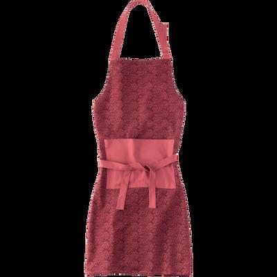Tablier à motifs amande en coton rouge-AMANDE