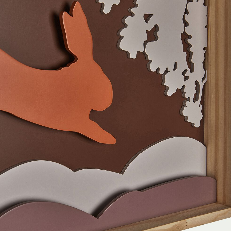 Cadre photo au décor sous bois - brun rhassoul-Tableù