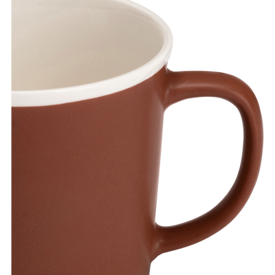 Mug en porcelaine marron 35cl-CAFI