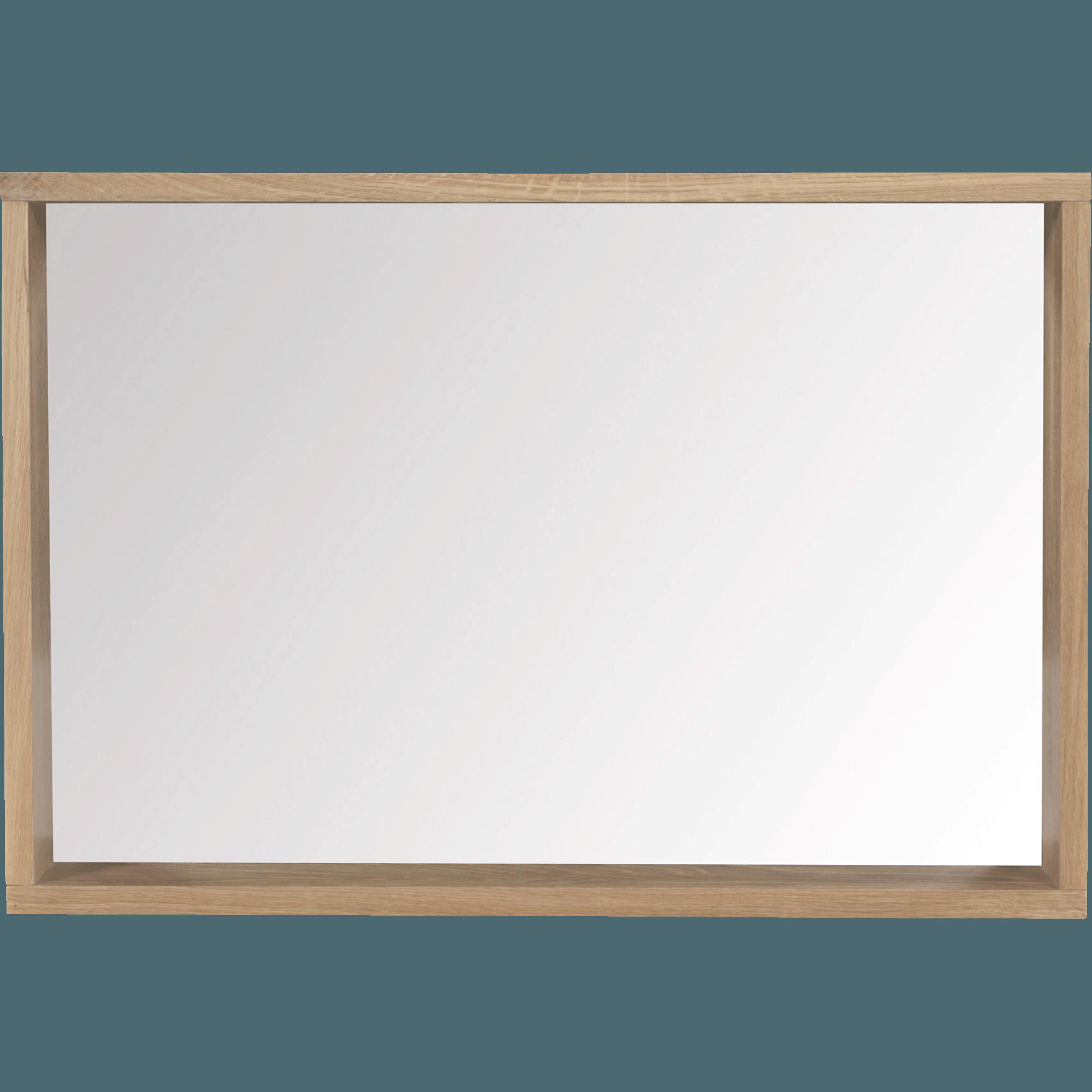 Captivant Miroir Rectangulaire De Salle De Bains En Chêne 80cm Native