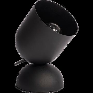 Lampe à poser en métal noir H25,5cm-PALMIR