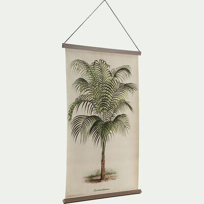 Kakémono mural toile imprimée palmier - 60x90cm-PALMUS
