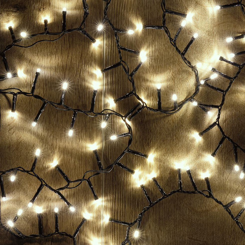 Guirlande électrique - D10x1100cm blanc-ANDRIA